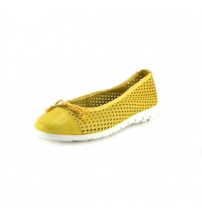 TALLA 37 manoletina de mujer de piel by Abril Shoes